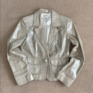 White House Black Market Soft Leather Shin Jacket